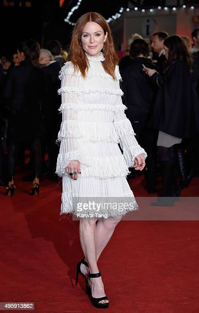 Julianne Moore attends The Hunger Games: Mockingjay Part 2 - UK Premiere at Odeon Leicester Square on November 5, 2015 in London, England.