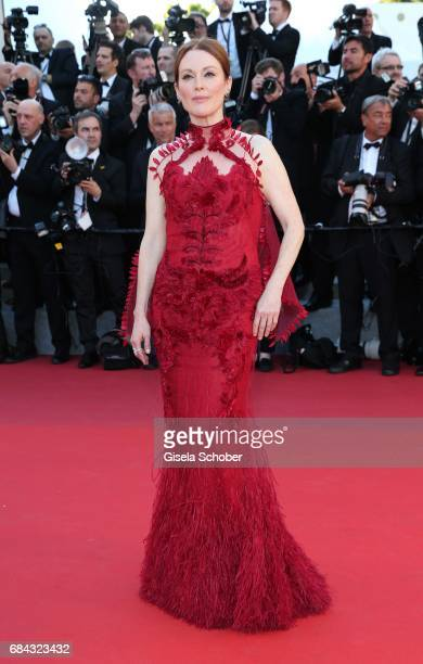 Julianne Moore attends the 'Ismael's Ghosts ' screening and Opening Gala during the 70th annual Cannes Film Festival at Palais des Festivals on May...