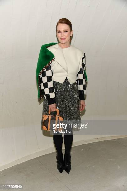 Julianne Moore attends the Louis Vuitton Cruise 2020 Fashion Show at JFK Airport on May 08 2019 in New York City