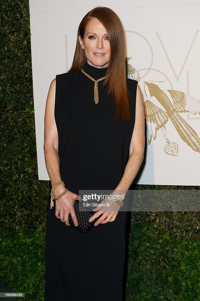 Julianne Moore attends the LoveGold party at Chateau Marmont on January 12, 2013 in Los Angeles, California.