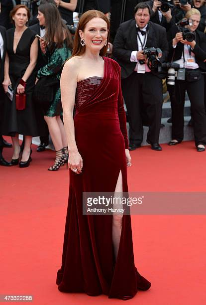 Julianne Moore attends the Mad Max Fury Road premiere during the 68th annual Cannes Film Festival on May 14 2015 in Cannes France