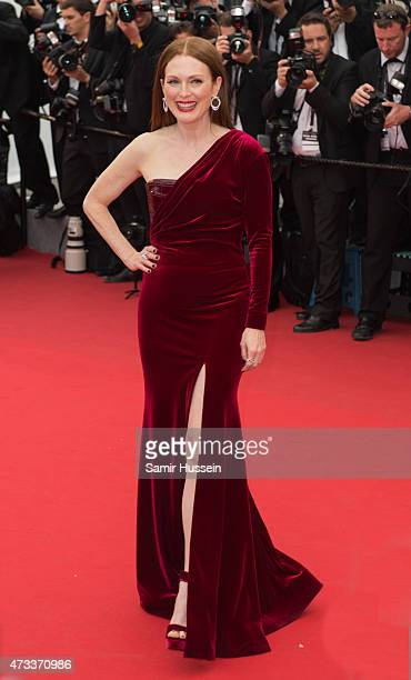 Julianne Moore attends the 'Mad Max Fury Road' Premiere during the 68th annual Cannes Film Festival on May 14 2015 in Cannes France