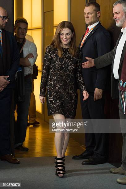 Julianne Moore attends the 'Maggie's Plan' photo call during the 66th Berlinale International Film Festival Berlin at Grand Hyatt Hotel on February...