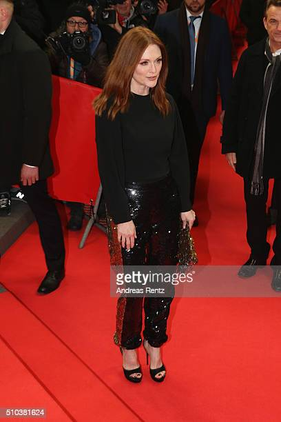 Julianne Moore attends the 'Maggie's Plan' premiere during the 66th Berlinale International Film Festival Berlin at FriedrichstadtPalast on February...