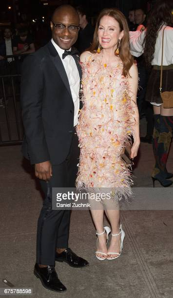 Julianne Moore attends the Marc Jacobs afterparty of the Rei Kawakubo/Comme des Garcons Art Of The InBetween Costume Institute Gala at the Boom Boom...