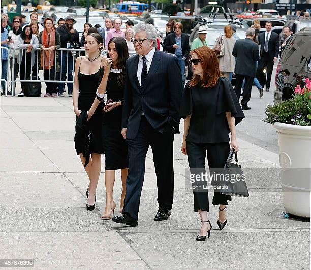 Julianne Moore attends the memorial service for L'Wren Scott at St Bartholomew's Church on May 2 2014 in New York City Fashion designer L'Wren Scott...
