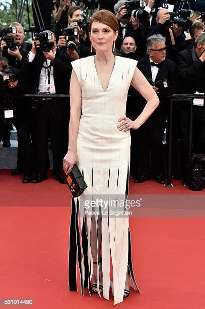 Julianne Moore attends the 'Money Monster' premiere during the 69th annual Cannes Film Festival at the Palais des Festivals on May 12 2016 in Cannes...