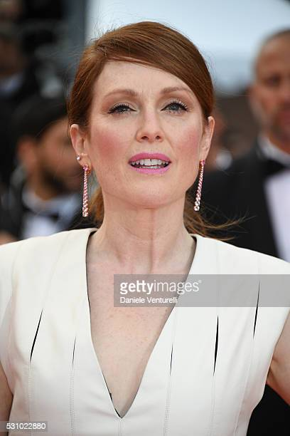 Julianne Moore attends the 'Money Monster' premiere during the 69th annual Cannes Film Festival at the Palais des Festivals on May 12 2016 in Cannes