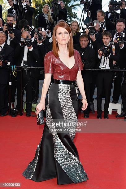 Julianne Moore attends the 'Mr Turner' premiere during the 67th Annual Cannes Film Festival on May 15 2014 in Cannes France