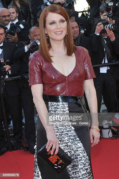 Julianne Moore attends the 'Mr Turner' premiere during the 67th Cannes Film Festival