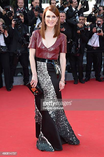 Julianne Moore attends the 'MrTurner' Premiere at the 67th Annual Cannes Film Festival on May 15 2014 in Cannes France