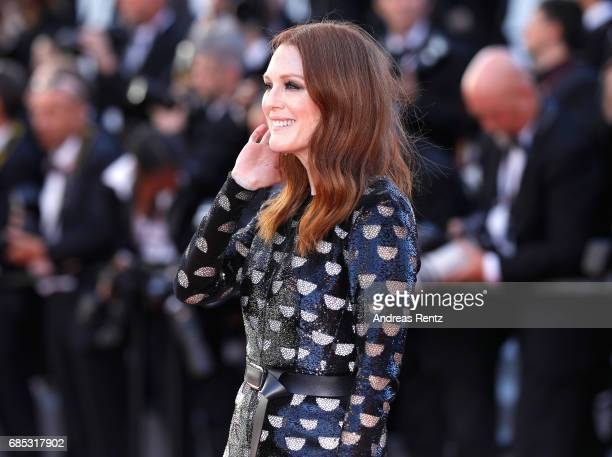 Julianne Moore attends the Okja screening during the 70th annual Cannes Film Festival at Palais des Festivals on May 19 2017 in Cannes France