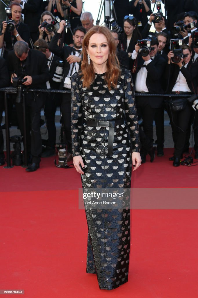 Julianne Moore attends the 'Okja' screening during the 70th annual Cannes Film Festival at Palais des Festivals on May 19, 2017 in Cannes, France.