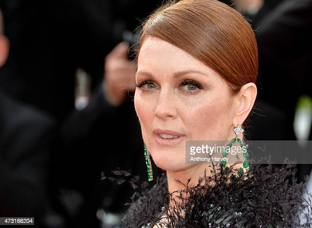 Julianne Moore attends the opening ceremony and 'La Tete Haute' premiere during the 68th annual Cannes Film Festival on May 13 2015 in Cannes France