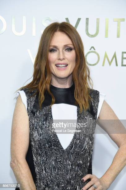 Julianne Moore attends the Opening Of The Louis Vuitton Boutique as part of the Paris Fashion Week Womenswear Spring/Summer 2018 on October 2 2017 in...