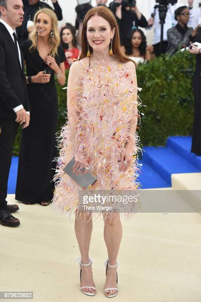 Julianne Moore attends the 'Rei Kawakubo/Comme des Garcons Art Of The InBetween' Costume Institute Gala at Metropolitan Museum of Art on May 1 2017...