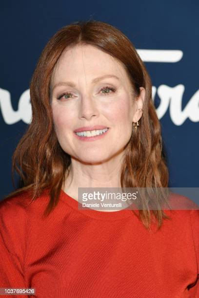 Bart Freundlich and Julianne Moore attends the Salvatore Ferragamo show during Milan Fashion Week Spring/Summer 2019 on September 22 2018 in Milan...