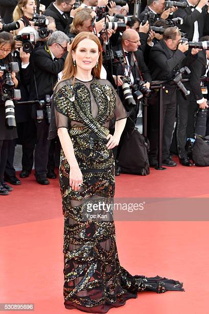 Julianne Moore attends the screening of 'Cafe Society' at the opening gala of the annual 69th Cannes Film Festival at Palais des Festivals on May 11...