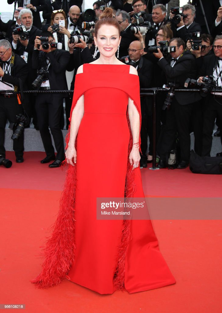 Julianne Moore attends the screening of 'Everybody Knows (Todos Lo Saben)' and the opening gala during the 71st annual Cannes Film Festival at Palais des Festivals on May 8, 2018 in Cannes, France.