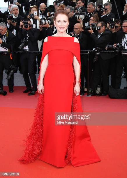 Julianne Moore attends the screening of 'Everybody Knows ' and the opening gala during the 71st annual Cannes Film Festival at Palais des Festivals...