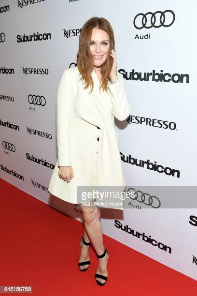 Julianne Moore attends the 'Suburbicon' post premiere party hosted by Nespresso and Audi during the 2017 Toronto International Film Festival held at...