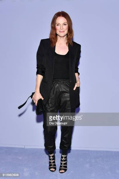 Julianne Moore attends the Tom Ford Women's Fall/Winter 2018 fashion show during New York Fashion Week at Park Avenue Armory on February 8 2018 in...