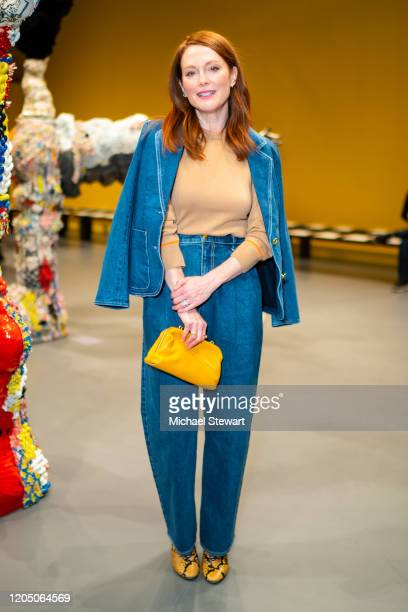 Julianne Moore attends the Tory Burch fashion show during New York Fashion Week: The Shows at Sotheby's on February 09, 2020 in New York City.