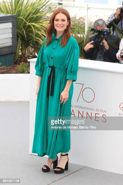 Julianne Moore attends the 'Wonderstruck' photocall during the 70th annual Cannes Film Festival at Palais des Festivals on May 18 2017 in Cannes...