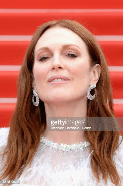 Julianne Moore attends the 'Wonderstruck' screening during the 70th annual Cannes Film Festival at Palais des Festivals on May 18 2017 in Cannes...