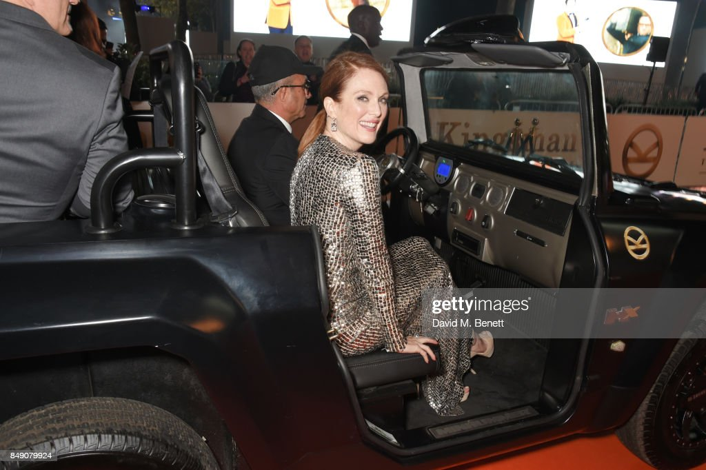 Julianne Moore attends the World Premiere of 'Kingsman: The Golden Circle' at Odeon Leicester Square on September 18, 2017 in London, England.