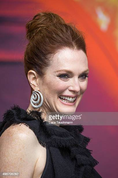 Julianne Moore attends the world premiere of the film 'The Hunger Games Mockingjay Part 2' at CineStar on November 4 2015 in Berlin Germany