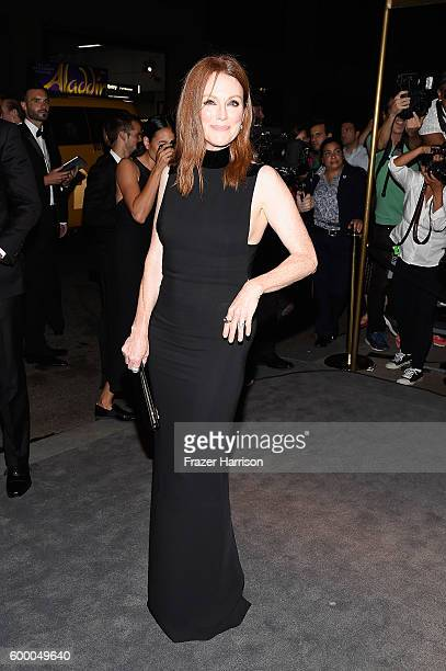 Julianne Moore attends Tom Ford fashion show during New York Fashion Week September 2016 at 99E 52d St on September 7 2016 in New York City