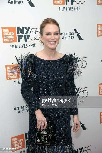 """Julianne Moore attends """"Wonderstruck"""" screening during 55th New York Film Festival at Alice Tully Hall on October 7, 2017 in New York City."""
