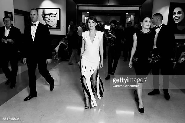 Julianne Moore departs the Martinez Hotel during the 69th annual Cannes Film Festival on May 12 2016 in Cannes France