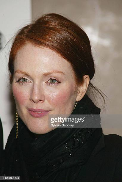 Julianne Moore during amfAR and ACRIA Honor Herb Ritts for His Work and Activism at Sotheby's in New York New York United States