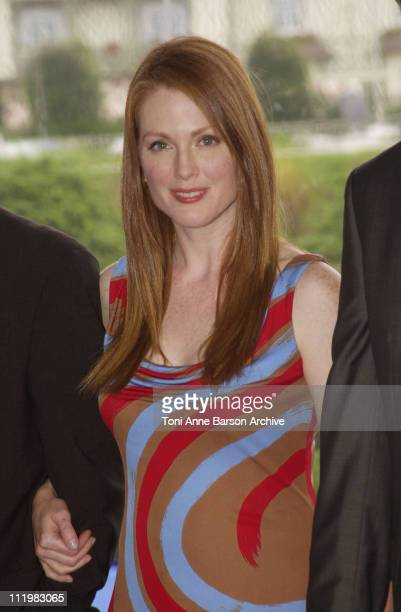 Julianne Moore during Deauville 2001 World Traveler Photocall at Centre International Deauville CID in Deauville France
