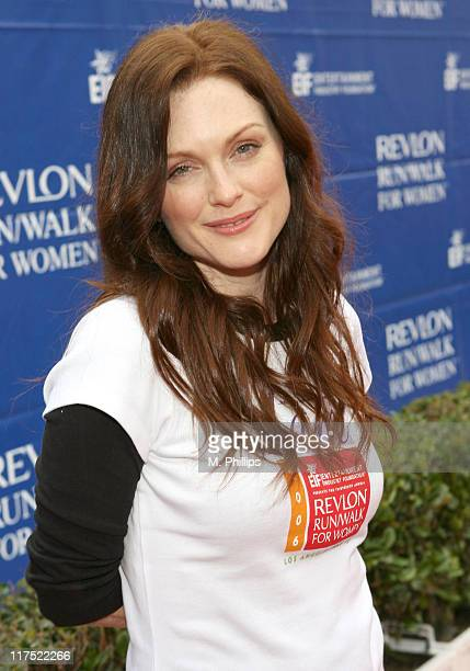 Julianne Moore during The 13th Annual Revlon Run/Walk For Women Los Angeles May 13 2006 at Los Angeles Memorial Coliseum in Los Angeles California...