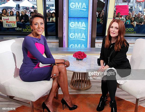 AMERICA Julianne Moore is a guest on 'Good Morning America' 9/28/15 airing on the ABC Television Network