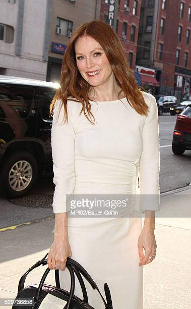 Julianne Moore is seen after an appearance on CBS This Morning on May 09 2016 in New York City