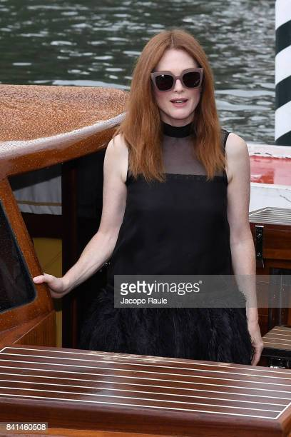 Julianne Moore is seen arriving at Hotel Excelsior during the 74 Venice Film Festival on September 1 2017 in Venice Italy