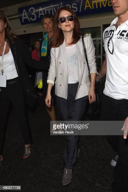 Julianne Moore is seen arriving in Nice for the 67th Annual Cannes Film Festival on May 14 2014 in Nice France