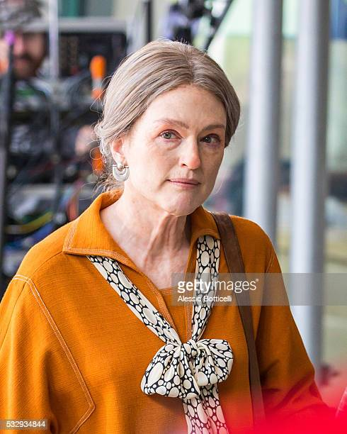 Julianne Moore is seen filming 'Wonderstruck' on May 19 2016 in New York New York