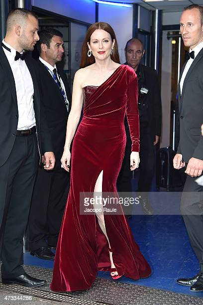 Julianne Moore is seen on day 2 of the 68th annual Cannes Film Festival on May 14 2015 in Cannes France