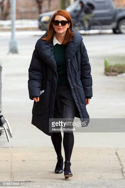Julianne Moore is seen on film set of 'Still Alice' on March 5 2014 in New York City