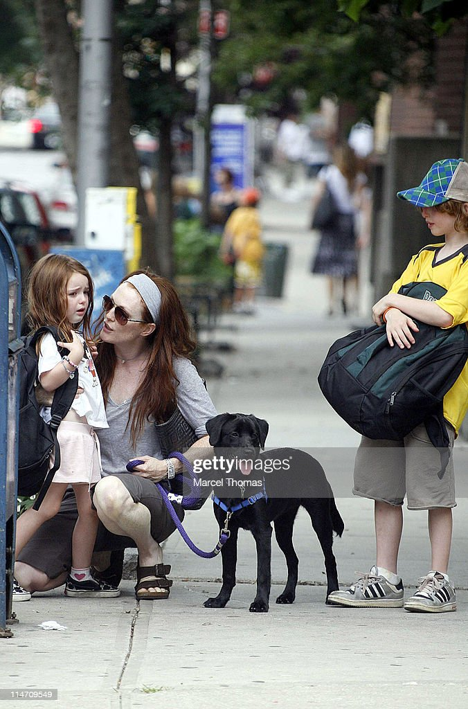 Julianne Moore and Kids Sighting in Soho - July 13, 2006