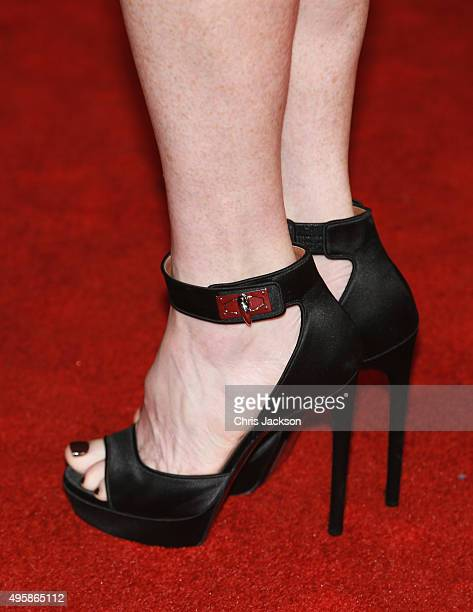Julianne Moore shoe detail attends The Hunger Games Mockingjay Part 2 UK Premiere at the Odeon Leicester Square on November 5 2015 in London England
