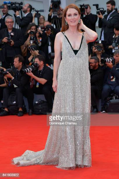 Julianne Moore walks the red carpet ahead of the 'Suburbicon' screening during the 74th Venice Film Festival at Sala Grande on September 2 2017 in...