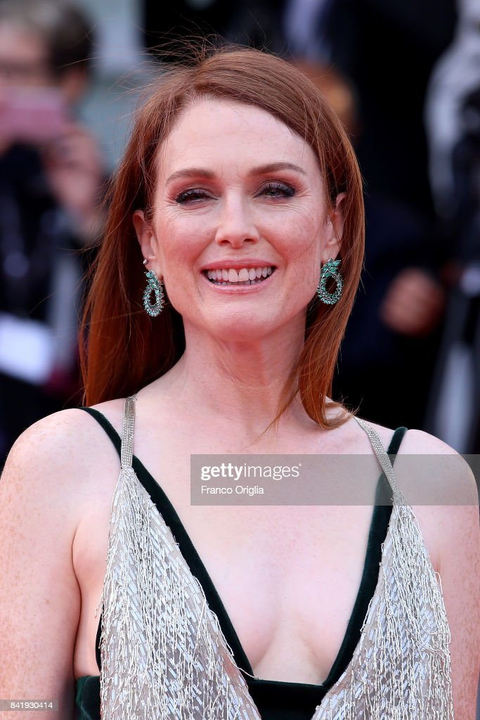 Julianne Moore walks the red carpet ahead of the 'Suburbicon' screening during the 74th Venice Film Festival at Sala Grande on September 2, 2017 in Venice, Italy.