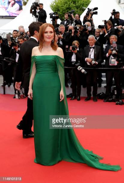 Julianne Moore wearing Chopard jewels attends the opening ceremony and screening of The Dead Don't Die during the 72nd annual Cannes Film Festival on...