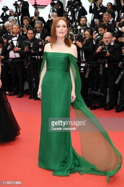 """Julianne Moore, wearing Chopard Jewels, attends the opening ceremony and screening of """"The Dead Don't Die"""" during the 72nd annual Cannes Film..."""
